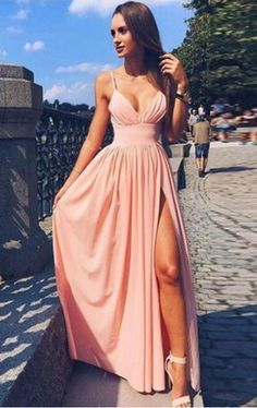 Long Prom Dresses,Cheap Prom Dress,Party Dresses,Prom Gowns,Gowns Prom,Evening Dresses,Cheap Prom Dresses,Dresses for Girls,Prom Dress UK,Prom Suit,Prom Dress Brand,Prom Dress Store,Pink Spaghetti Strap V Neck Simple Long Evening Dress,Cheap Prom Dress, M106