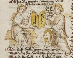 Thomasin <Circlaere>   Welscher Gast (b) Nordbayern (Eichstätt?), um 1420 Cod. Pal. germ. 330 Folio 7v