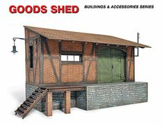 The MiniArt Goods Shed Model Kit in 1/35 scale from the plastic building models range provides a highly detailed building perfect for use in 1/35 scale dioramas and wargames terrain.  This plastic building kit requires paint and glue to complete.