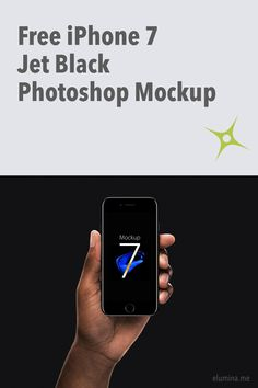 Apple has unveiled long-awaited iPhone 7 and it comes also in a stunning new color: Jet Black. Elumina found this pixel perfect iPhone 7 Jet Black Photoshop Mockup. Download now the new iPhone 7 Jet Black Photoshop mockup that also includes two hand-hold views so you can showcase your design projects in style.
