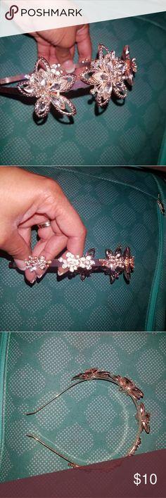 Headband Gold flowers, diamonds Accessories Hair Accessories
