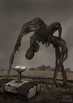 SCP 610 by alexandreev on DeviantArt Monster Concept Art, Fantasy Monster, Monster Art, Dark Creatures, Fantasy Creatures, Mythical Creatures, Arte Horror, Horror Art, Sci Fi Horror