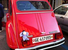 Eeyore loved this car in Geneva