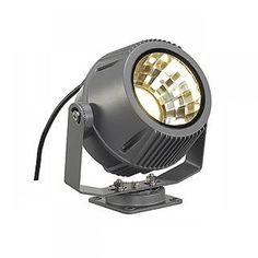 SLV FLAC BEAM LED Strahler, steingrau, mit Philips DLMi