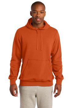 Sport-Tek Pullover Hooded Sweatshirt ST254 Deep Orange