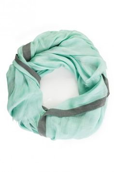 mint + gray accent scarf.