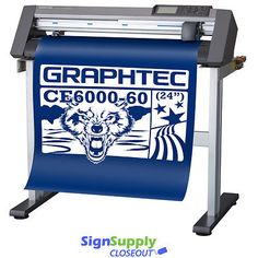 """24"""" Graphtec CE6000-60 Vinyl Cutter Plotter w/ Stand Making Signs #Business #Industrial #Printing #Graphic #Arts #CE6000-60"""