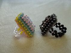 Rectangle Right Angle Weave Ring Part 2 of 2