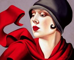 Catherine Abel - AUTUMN ZEPHYR Australian contemporary artist, referring to the acquis of Tamara de Lempicka.