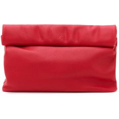 Marie Turnor Accessories The Lunch Clutch (330 CAD) ❤ liked on Polyvore featuring bags, handbags, clutches, red, pocket purse, leather handbags, imitation handbags, red leather handbag and marie turnor