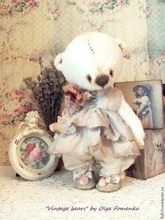 Teddy Bear Mikella by Fomenko Olga My Teddy Bear, Cute Teddy Bears, Teddy Beer, Teddy Pictures, Teddy Toys, Fabric Animals, Crochet Bear, Crochet Teddy, Boyds Bears