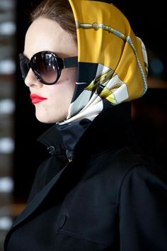 Chic Spy Head Scarf.