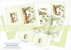 Junk Journal. Owl Journal Kit. Green. Digital Journal 5x7.   Etsy Make Your Own Card, Digital Journal, Scrapbooking, Shabby Chic Crafts, Printable Paper, Cover Pages, Junk Journal, Envelopes, Ephemera