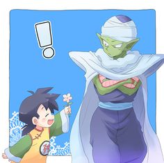 Gohan & Piccolo- this is so cute. I can see why Piccolo became a good guy thanks to Gohan and Goku's treatment of him.