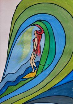 Beautiful surf art