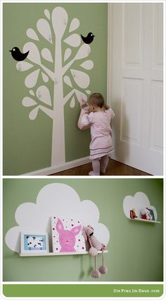 kinderzimmer...plus my pink rabbit painting...