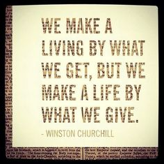 It is better is to give than receive.
