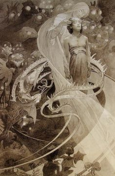 Alphonse Mucha, Le Pater, c. 1900