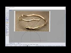 Basic Rhino tutorial on making an organic branch ring with Rhino Cad and Sculptris - YouTube