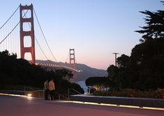 45-ALU - the sealed version of extrusion may be used to light external architecture elements and facades of buildings.  Profil LED w wersji uszczelnionej może być wykorzystany do oświetlenia elementów architektury zewnętrznej oraz elewacji. #klusdesign #ledprofile #ledextrusion #ledaluminiumprofile #outdoorledlighting #outdoorlights #outdoorlightfixtures Led Fixtures, Urban Architecture, Golden Gate Bridge, Outdoor Lighting, San Francisco, Sidewalk, Patio, Public Spaces, Design