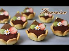 [Eng Sub] 미니 티라미수 만들기/레이디 핑거/How to make mini tiramisu / Ladyfinger Recipe / mini tart / Coffee tart - YouTube Finger Food Desserts, Asian Desserts, Party Desserts, Mini Desserts, No Bake Desserts, Lady Fingers Recipe, Mini Pastries, Tartelette, Japanese Sweets