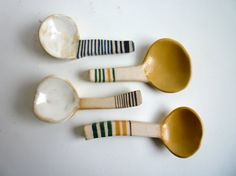 four demitasse spoons  MTO by carnevaleclay on Etsy