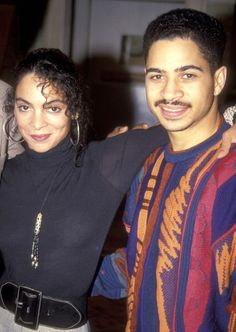 Actress Jasmine Guy and actor Darryl M Bell pose for photographs on the set of A Different World on February 24 1992 at CBS/MTM Studios in Studio. Black Actresses, Black Actors, Actors & Actresses, Whitley Gilbert, Jasmine Guy, Nostalgia, A Different World, Vintage Black Glamour, World Tv