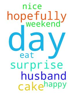 Hopefully husband will surprise me with a cake and - Hopefully husband will surprise me with a cake and a nice day out to eat this weekend so happy thank you god for this day ..  Posted at: https://prayerrequest.com/t/uyw #pray #prayer #request #prayerrequest