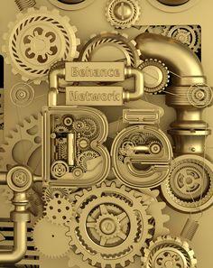 Adobe Creative Cloud - Just Add Ideas on Behance Steampunk Circus, Game Ui Design, 3d Typography, Mont Saint Michel, Article Design, Creative Industries, Steampunk Fashion, Design Elements, Behance