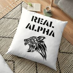 'Real Alpha - pack leader' Floor Pillow by RIVEofficial Alpha Pack, Floor Pillows, Throw Pillows, Pin Pin, Pillow Design, Cool T Shirts, Online Shopping, Custom Design, Flooring