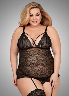 08bec20df6a7e 15 Hot Plus Size Lingerie Looks to Spice Up Your Valentine's Day http://
