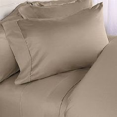"1200-Thread-Count Egyptian Cotton 1200TC Sheet Set, Olympic Queen, Taupe Solid 1200 TC by Egyptian Linens. $67.99. Brand New and Factory Sealed.. 1 Flat Sheet (92"" x 102""), 1 Fitted Sheet (66"" x 80"") and 2 Standard Pillow Cases (20"" x 30""). Fits mattresses up to 14"" - 20"" deep with elastic all around the fitted sheet. 100% Luxury 1200TC long-staple Egyptian Cotton Sheet Set. Machine wash in cold water with similar colors. Tumble dry low. Do not bleach. Package contains 1 Flat Sh..."