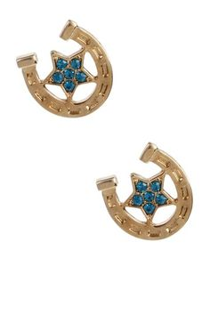 Betsey Johnson Jewelry & Watches  Horseshoe Stud Earrings