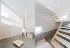 'house of trough' by jun igarashi architects in hokkaido, japan