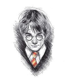 Kreg Franco Inktober 2015 ink pen sketch Harry Potter Sorcerer's Stone