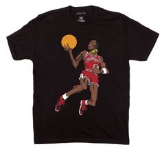 BlockNation Michael Jordan '1985 Slam Dunk Contest' Caricature Tee