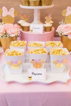 14 Best Pink Gold Minnie Mouse Party By Lysi Images