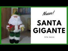 SANTA GIGANTE   PAPA NOEL   DECORACION NAVIDEÑA - YouTube Christmas Decorations, Christmas Ornaments, Holiday Decor, Gnome, Dyi Crafts, Xmas, Make It Yourself, Handmade, Youtube