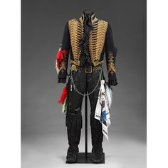 Adam Ant costume. This one was worn Kings of the Wild Frontier.