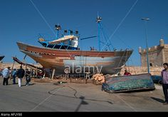 Fishing boat in the final stages of construction