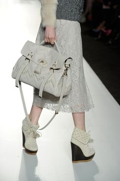 The catwalk, Mulberry Autumn Winter 2012 at London Fashion Week.