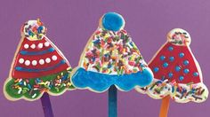 Enjoy birthday party with these wonderful cookie pops made using Betty Crocker® cookie mix and icing.