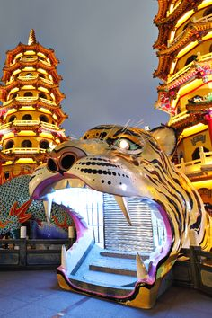 Tiger Pagoda in Kaohsiung, Taiwan                                                                                                                                                                                 More