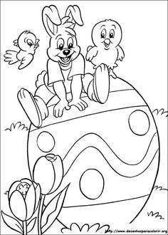 Coloring Easter bunny on Easter egg - Ausmalbilder Ostern - # Easter Coloring Pictures, Easter Egg Coloring Pages, Easter Bunny Pictures, Coloring For Kids, Printable Coloring Pages, Coloring Pages For Kids, Coloring Books, Easter Projects, Easter Printables