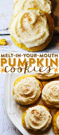 Melt-in-Your-Mouth Pumpkin Cookies #fall #thanksgiving #brunch