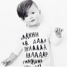 Aaahhh long sleeve tee by Kid & Kind  http://kidandkind.com/collections/kids/products/white-ahhahh-t-shirt