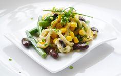 Für einen Mais-Bohnen-Salat braucht man nicht viel Zeit. Dieses köstliche #Rezept ist rasch zubereitet.