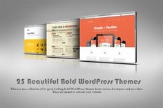 Today we have a nice collection of 25 good looking bold WordPress themes from various developers and providers. Bold WordPress themes are those that usually come up with something new or different from the vast majority of the themes and have a good looking, solid layout with large typography, ...