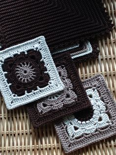 Granny squares in shades of black and grey :-)