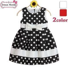 vestidos lunares blanco y negro para niñas - Buscar con Google